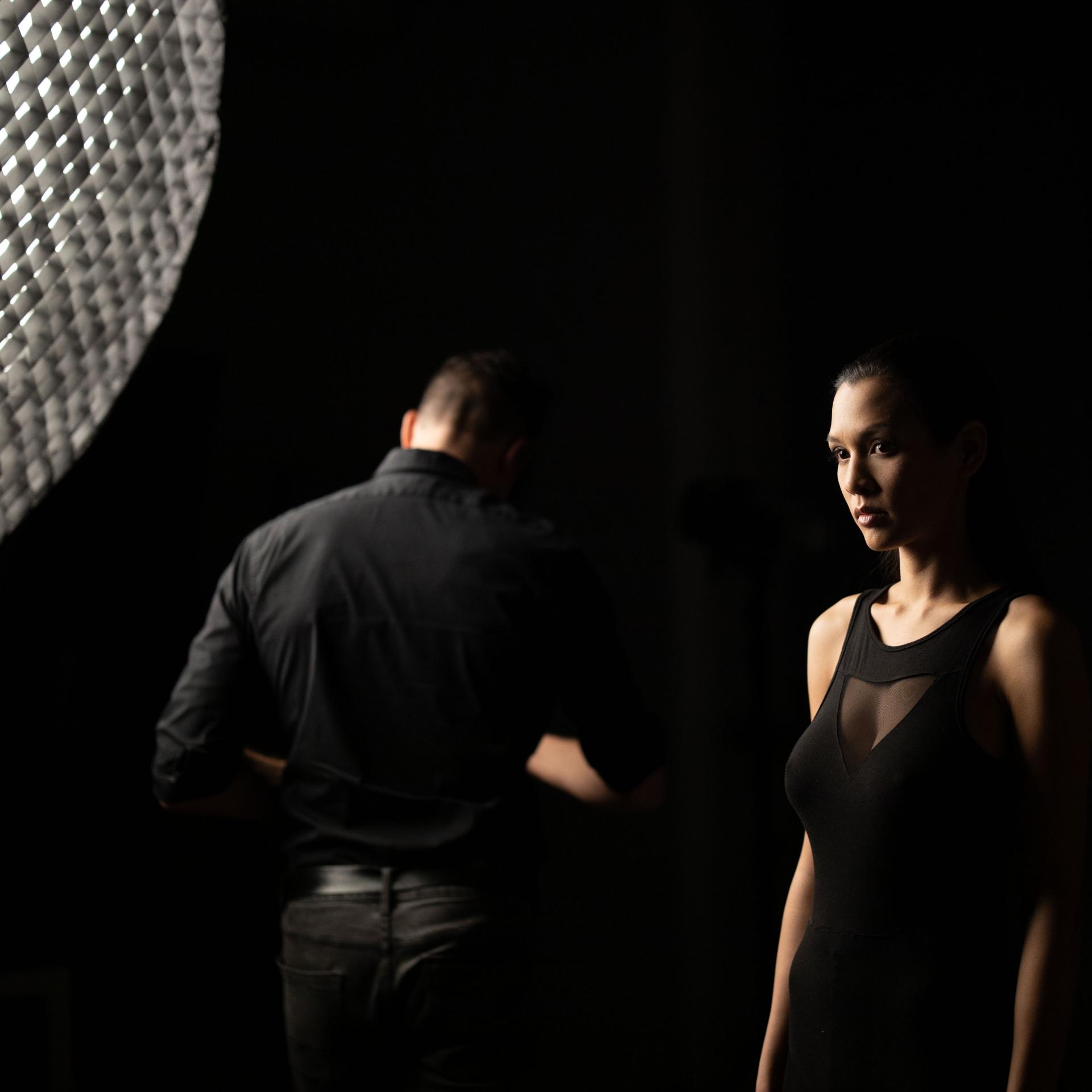 Portrait, Rembrandt Licht, Shooting, Studio
