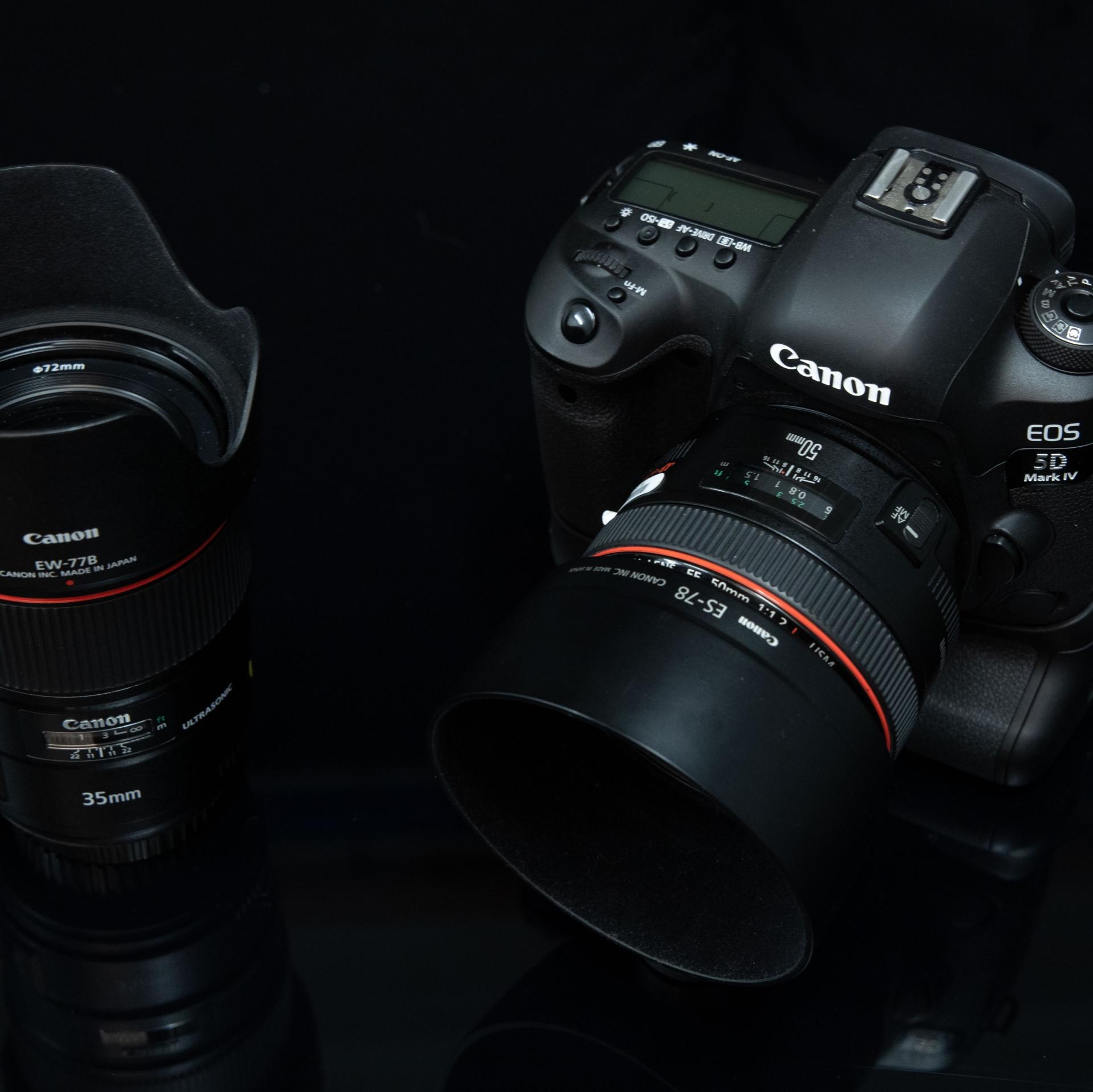 35mm-Objektiv, APS-C-Kamera, 50mm-Objektiv, Vollformatkamera wie der EOS 5D Mark IV