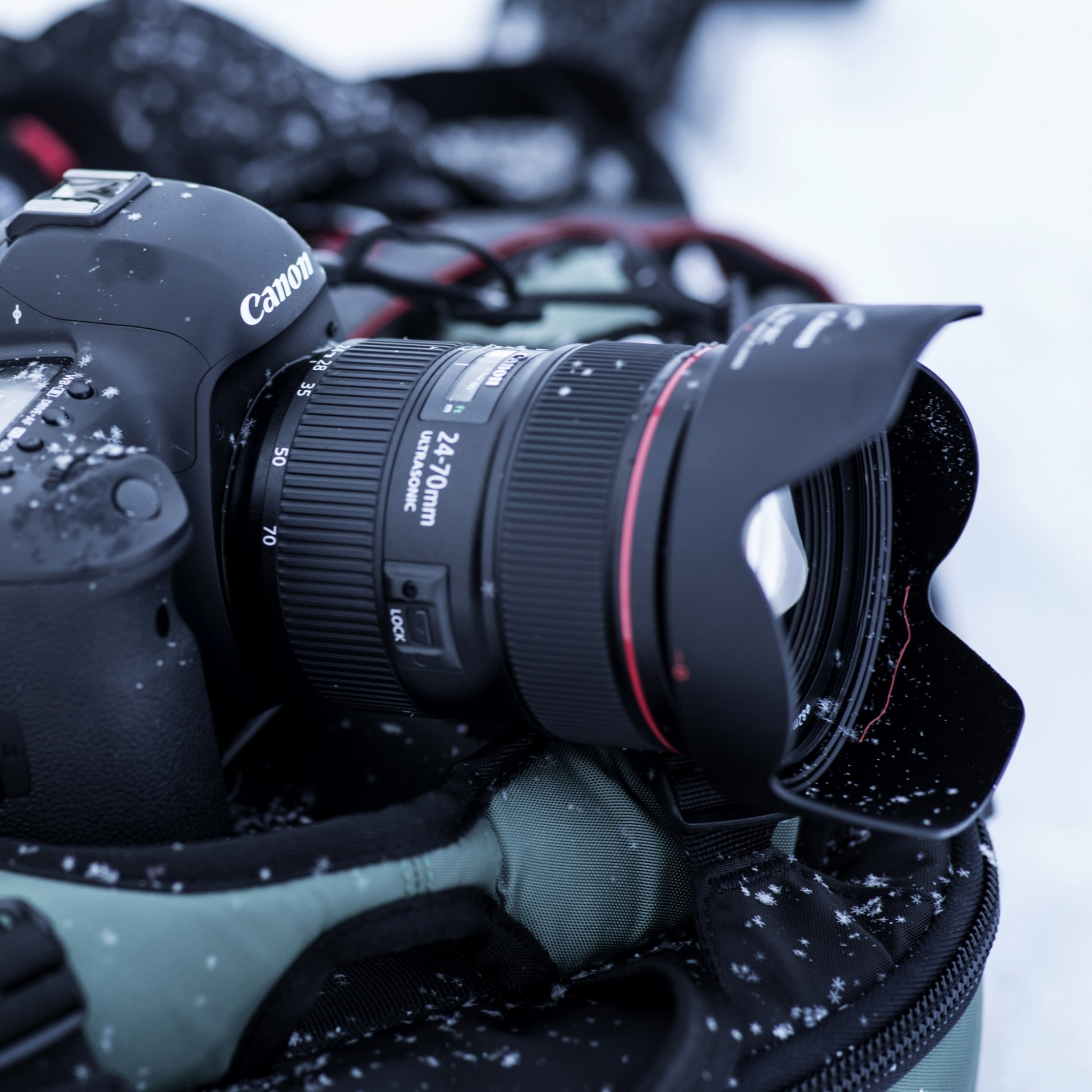 Standard-Zoomobjektiv Canon EF 24-70mm f/2.8L IS USM, Winter, Foto, Kamera