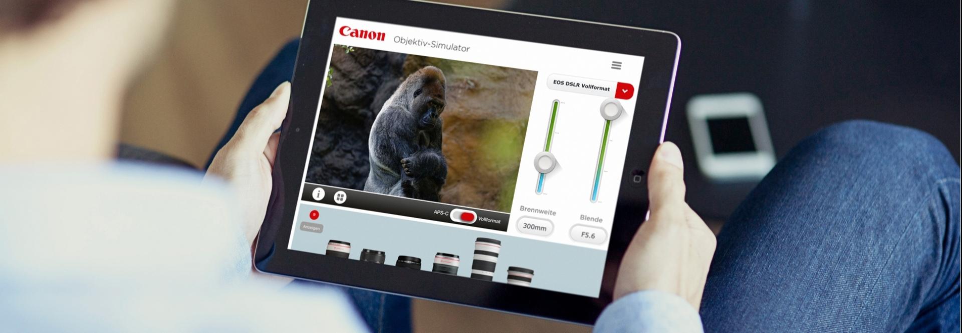 Canon, Objektive, Fotografie, Simulation
