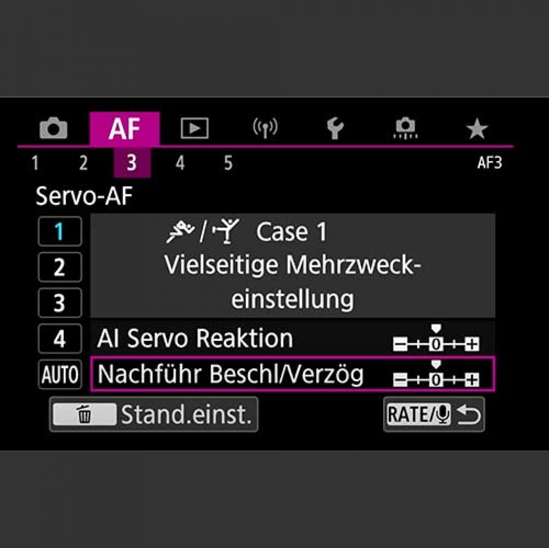 Autofokus, AF Cases und individuelle Konfiguration, EOS R5, EOS R6